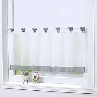 Attrayant Joyswahl Bistrogardine Voile Schlaufen Scheibengardine Mia Küchen  Transparenter Vorhang HxB 60x145cm Grau 1er Pack