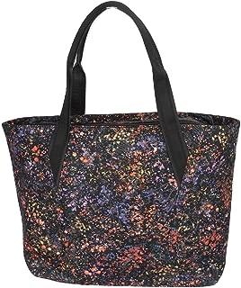 Lululemon Midnight Black flourescent Beauty Out Of Range Tote Purse Fun bag- Commute Computer Bag Rare Collection