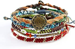 "Wakami Earth Bracelet, 6.5-7"" Multi Color Classic 7 Strand wa0389"