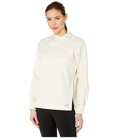 New Balance Q Speed Run Crew Sweatshirt (Linen Fog Heather) Women