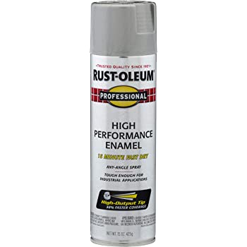 Rust-Oleum 7581838 Professional High Performance Enamel Spray Paint, 15 oz, Light Machine Gray