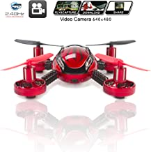 KiiToys Drone with Camera Quadcopter JXD 392 - Mini Drones - Built in Camera, Easy Flight Control, Stable Landing, Fast Response Remote, 4GB SD Card & Reader