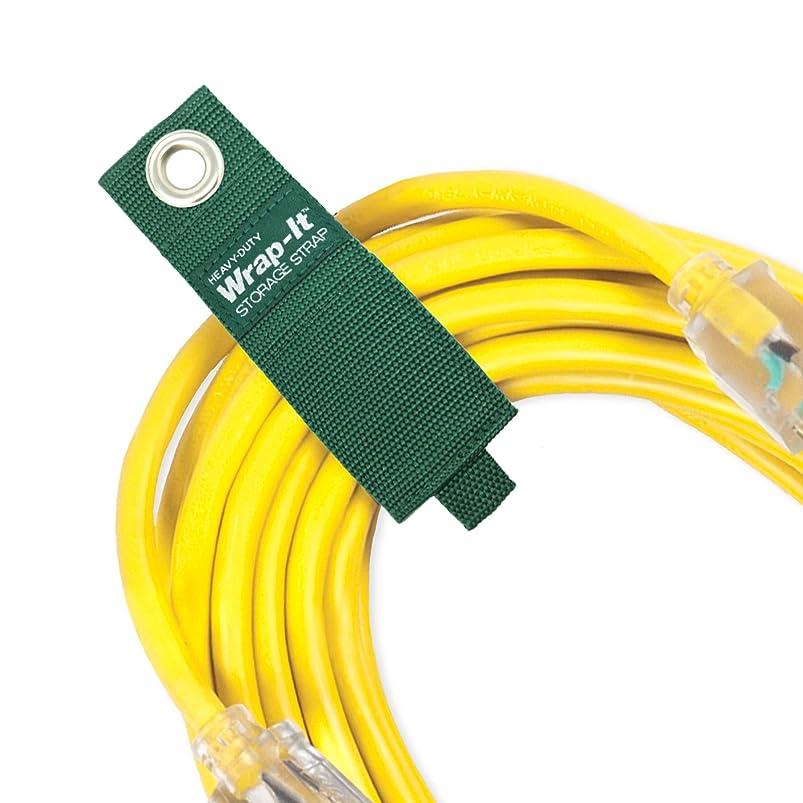 コマース逆さまにコンバーチブルwrap-it頑丈なストレージ(カラー)?–?フックとループオーガナイザーハンガー延長コード、ケーブル、用ホースストラップ、ロープand More forガレージ、ホーム、ショップ、ボート、RV組織 10 Pack (2S/2M/3L/3XL) グリーン