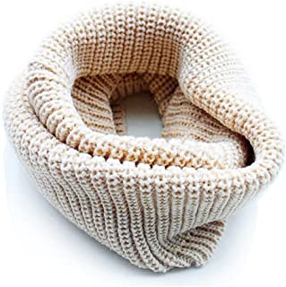 Knitted Fashion Scarves Infinity Circle Scarf for Girls Beige