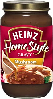 Heinz Homestyle Mushroom Gravy (12 oz Jars, Pack of 12)