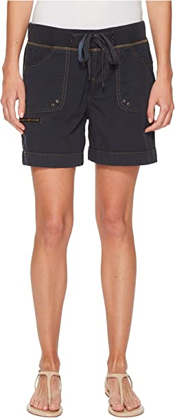 "Diana Knit Waist 5"" Drawstring Shorts in Breezy Poplin"