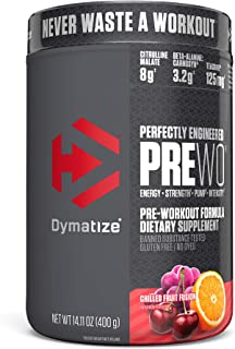 Dymatize PreW.O., Pre Workout Powder with Caffeine, Maximize Energy, Strength & Endurance, Amplify Intensit...