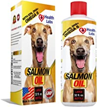 Omega 3 & 6 Salmon Oil Liquid for Dogs and Cats - 100% Pure Natural Organic Fish Oil Supplements for Pets - Unscented Formula With EPA DHA - For Healthy Skin and Shiny Coats - 100% Satisfaction