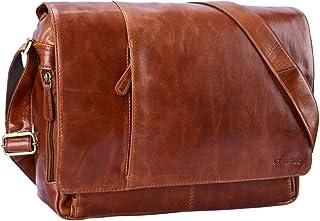 STILORD Vintage Bolso Bandolera de Piel para Hombre Mujer Bolso para portátil 15,6 Pulgadas Grande Bolso de Cuero auténtic...