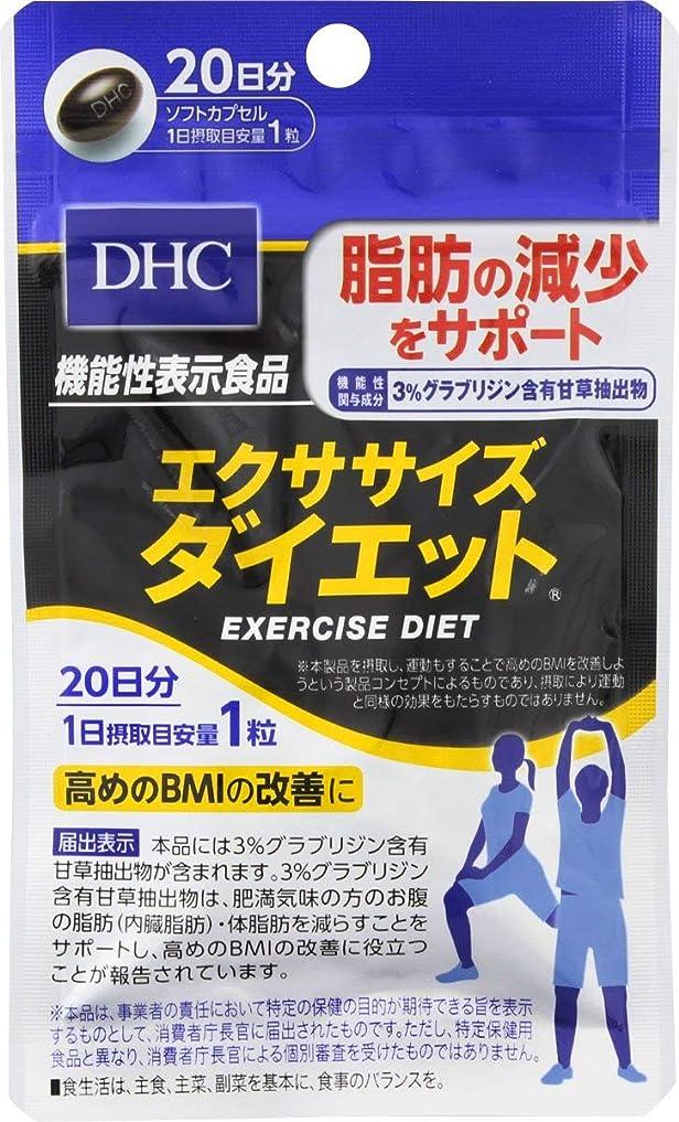 民間誰もネックレス【2個セット】DHC エクササイズダイエット 20日 20粒×2袋【機能性表示食品】