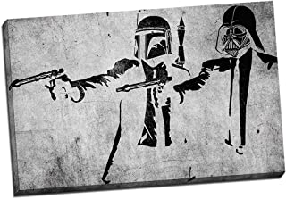 Panther Print Banksy Pulp Fiction Storm Troopers Canvas Print Picture Wall Art Large 30X20 Inches (76.2Cm X 50.8Cm)