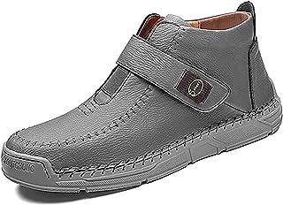 PLAYH Bottes Classiques pour Hommes Bottes À Tige Courte, Bottes en Cuir Chaussures Décontractées Bottes Chaussures d'hive...