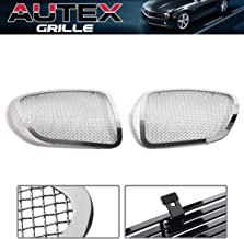 AUTEX Chrome 1.8mm Wire Mesh Main Grille P75545T Compatible With Pontiac Solstice 2006 2007 2008 Polished Grill Insert