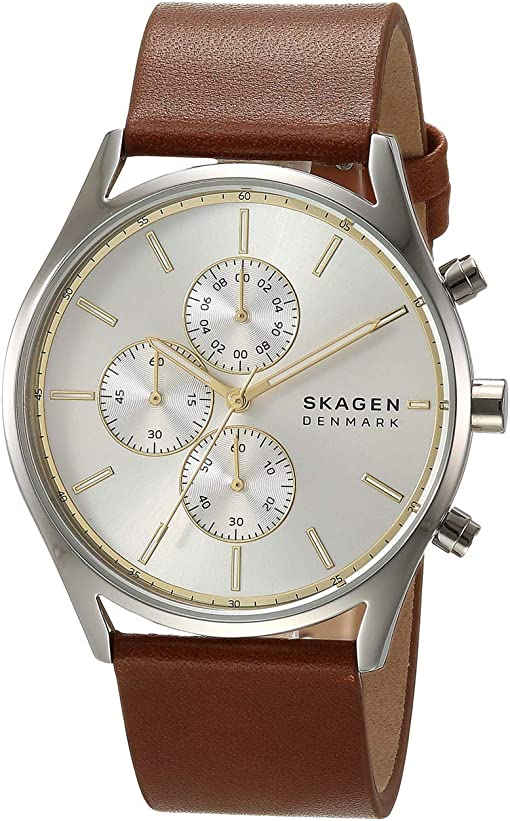 SKW6607 Silver Brown Leather