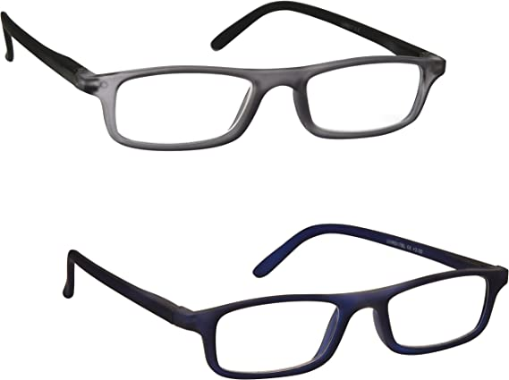The Reading Glasses Lunettes de Lecture Set de 2 Hommes Marron /Écaille Grand Designer Style Lecteurs Charni/ères Ressort RR11-2 1,00