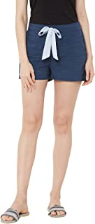 Mystere Paris Classic Textured Lounge Shorts Rayon Loungewear Casualwear Navy Blue F482A