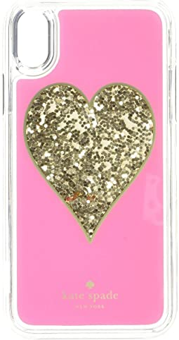 Heart Liquid Glitter Phone Case for iPhone® XS