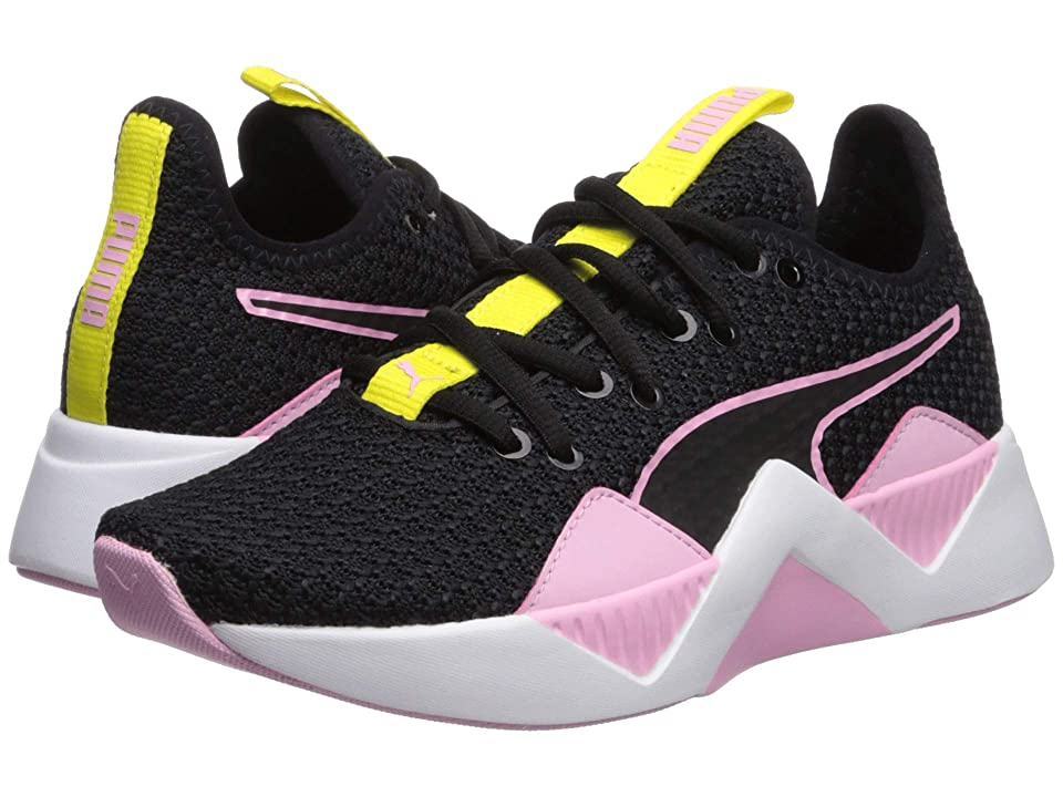 Puma Kids Incite FS (Big Kid) (Puma Black/Pale Pink/Blazing Yellow) Girl