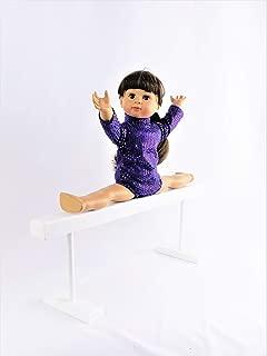 American Fashion World White Wooden Balance Beam for 18 inch Dolls