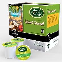 Green Mountain Coffee Roasters Island Coconut, Single-Serve Keurig K-Cup Pod, Flavored Light Roast Coffee, 48 Count (2 Box...