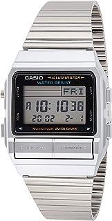 Casio Men's DB380-1 Silver Stainless-Steel Quartz Watch with Digital Dial