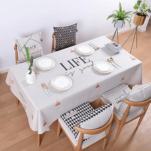 Unbekannt Küchenwäsche Baumwolle Leinen Tischdecken Rechteck Tischdecke Einfache Moderne Tischdecke Tee Tischdecken Tischdecke (Farbe   C, Größe   140  180cm)