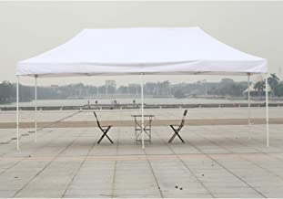 American Phoenix Canopy Tent 10x20 Ez Pop Up Instant Shelter Shade Heavy Duty Commercial Outdoor Party Tent (10x20FT (White Frame), White)