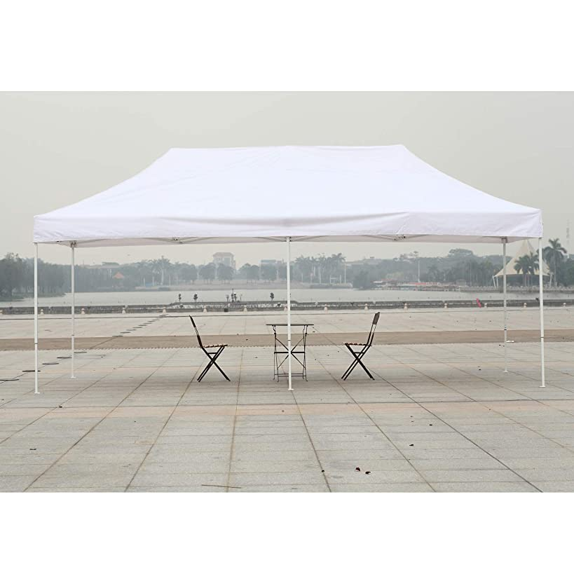 American Phoenix Canopy Tent 10x20 Easy Pop Up Instant Portable Event Commercial Fair Shelter Wedding Party Tent (White, 10x20)