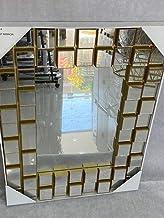 مرايا حائط ذهبي الون من انواع ديكور مراءة الجداري 75×55 لزينة ديكور المنزل