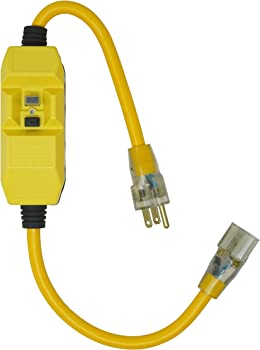 Woods Jacket Contractor Grade SJTW Super Flexible Extension Cord (Yellow)