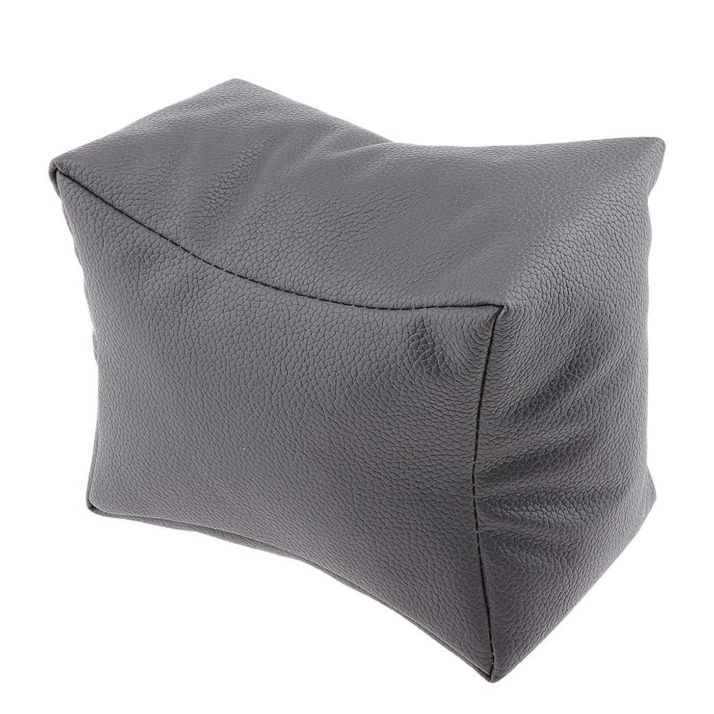 インシュレータ文歩き回るSM SunniMix ハンドクッション レストピロー ネイルアートデザイン 手枕 ソフト 4色選べ - グレー