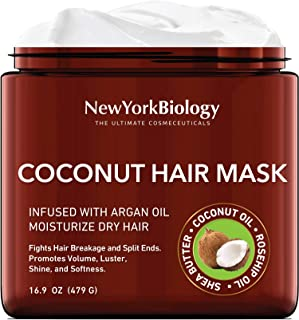 Sponsored Ad - Coconut Hair Mask for Hair Growth and Volume - Infused with Argan Oil - Moisturizing and Deep Conditioning ...