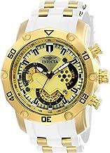 Invicta Men's Pro Diver Stainless Steel Quartz Watch with Silicone Strap, White, 26