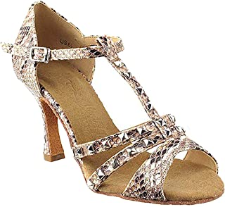 "Women's Ballroom Dance Shoes Tango Wedding Salsa Shoes Sera7012EB Comfortable-Very Fine 3"" [Bundle of 5]"