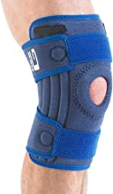 Neo G Knee Brace, Stabilized Open Patella - Support For Arthritis, Joint Pain, Meniscus Tear, ACL, Running, Basketball, Skiing – Adjustable Compression – Class 1 Medical Device – One Size – Blue