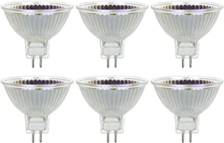 Sunlite Series 75MR16/FL/12V/6PK Halogen 75W 12V MR16 Flood Light Bulbs, 3200K Bright White, GU5.3 Base, 6 Pack