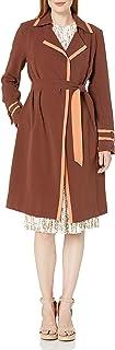 Dear Drew by Drew Barrymore Women's Wall St Color Block Trench Coat