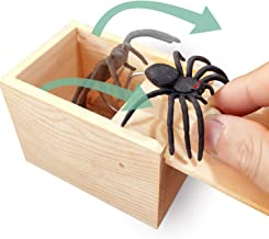 AHCAI Rubber Spider Prank Surprise Box,Handcrafted Wooden Surprise Box, Fun Practical Surprise Joke Boxes,SpiderBox-Single