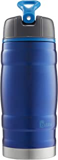 bubba Hero Sport Kids Insulated Stainless Steel Water Bottle with Flip-Up Straw, 12 oz., Blue