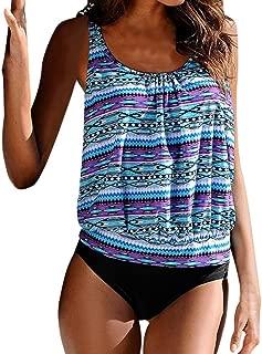 2019 clearance sale Women Plus Size Printed Tankini Bikini Swimwear Swimsuit Bathing Suit