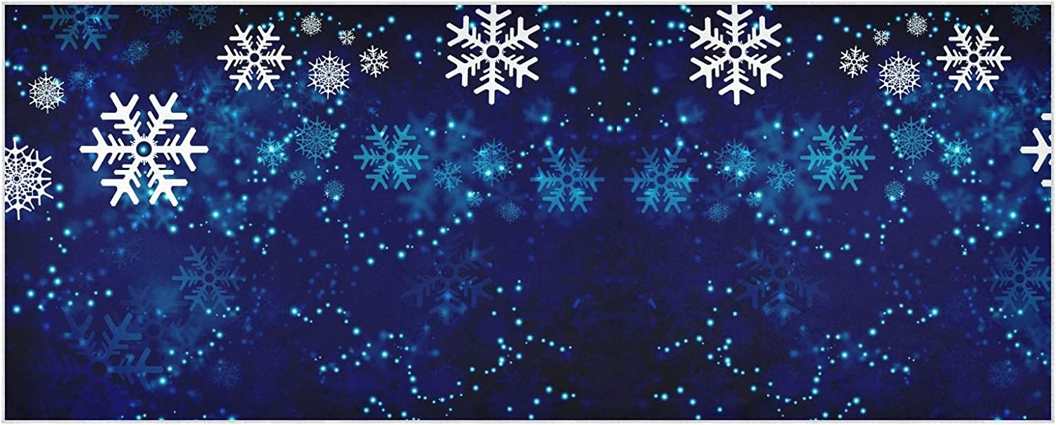 Scarf for Women and Men Christmas New Year Snowflakes Shawls Blanket Scarf wraps Warm soft Winter Oversized Scarves Lightweight