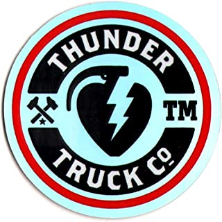 Thunder Trucks Mainline Skateboard Sticker - Silver/Red/Black/White 6.5cm wide