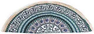 NRUTUP Round Hippie Tassel Tapestry Beach Throw Mandala Towel Yoga Mat Bohemian Hot Sales(Green,Free Size)