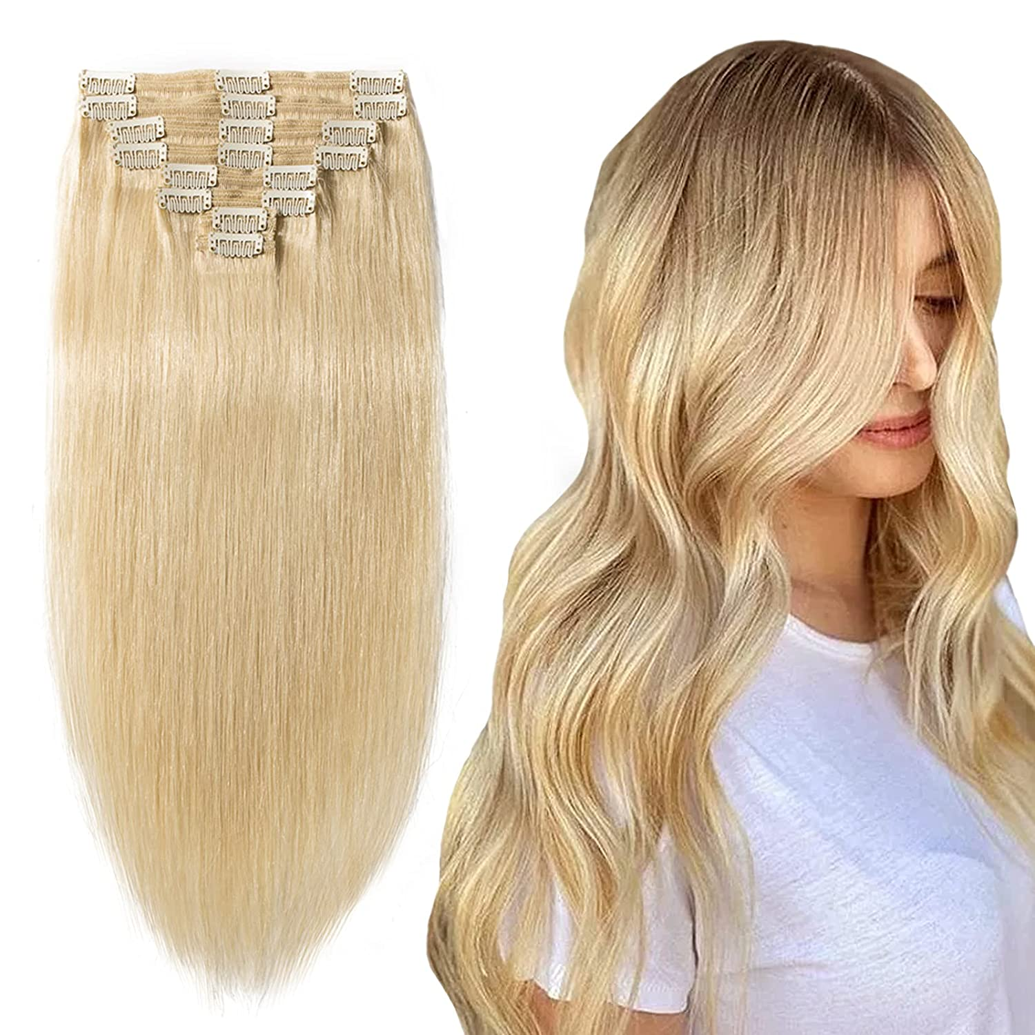 Hairro Clip In Hair Ranking TOP12 Blonde Human New arrival Extensions Remy