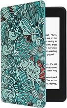 CoBak Kindle Paperwhite Case - همه پوشش هوشمند هوشمند PU چرم با ویژگی بیدار شدن خودکار خودکار برای Kindle Paperwhite 10th Generation 2018 منتشر شد ، گلدار