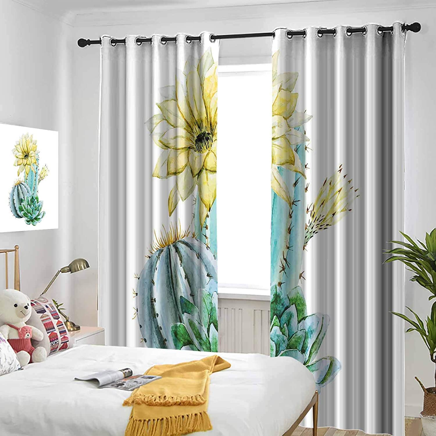 Succulent Thermal Insulated Drapes Water Light Sale SALE% OFF Indianapolis Mall Curtains Blocking