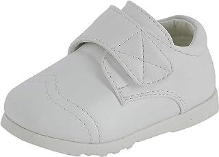 Boutique-Magique Chaussures Blanches pour bébé garçon baptême
