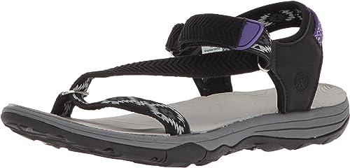 Northside Woherren Amara Flat Sandal, schwarz lila, Größe 7 M US