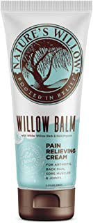 Willow Balm, Natural Pain Relief Cream – New Look, Same Formula - 3.5 fl oz