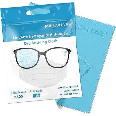 MVISION LAB | Lingette Nettoyante Verres Anti-Buée X1 - idéale pour désembuer les lunettes avec le port du masque
